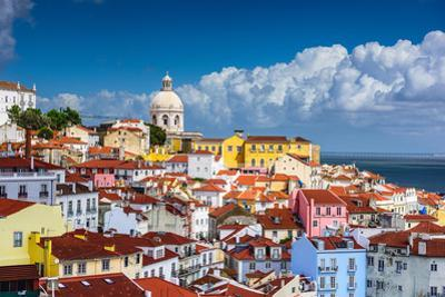 Lisbon, Portugal Skyline at Alfama, the Oldest District of the City