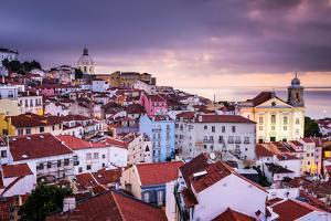 Lisbon, Portugal Skyline at Alfama, the Oldest District of the City by Sean Pavone