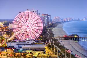Myrtle Beach, South Carolina, USA City Skyline. by Sean Pavone