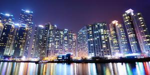 Residential High Rises in Busan, South Korea by Sean Pavone