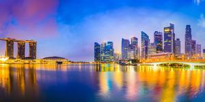 Singapore Skyline at the Bay by Sean Pavone