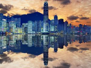 Skyline of Hong Kong Island by Sean Pavone
