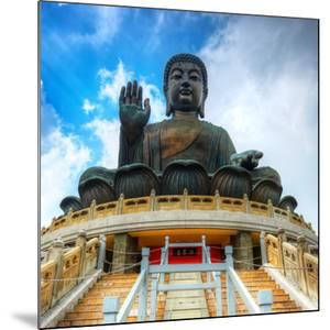 Tian Tan Buddha (Great Buddha) Is a 34 Meter Buddha Statue Located on Lantau Island in Hong Kong by Sean Pavone