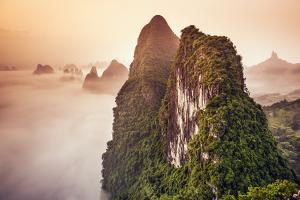 Xingping, Guilin, China Karst Mountains Landscape. by Sean Pavone