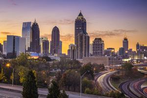 Atlanta, Georgia Downtown Skyline at Sunrise. by SeanPavonePhoto