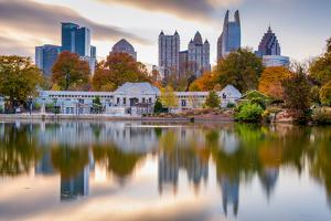 Atlanta, Georgia, USA Autumn Skyline from Piedmont Park. by SeanPavonePhoto