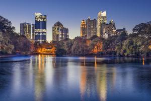 Atlanta, Georgia, USA Midtown Skyline from Piedmont Park. by SeanPavonePhoto