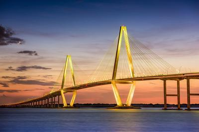 Charleston, South Carolina, USA at Arthur Ravenel Jr. Bridge.