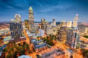Charlotte, North Carolina, USA Uptown Cityscape. by SeanPavonePhoto