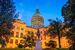 Georgia State Capitol Building in Atlanta, Georgia, Usa. by SeanPavonePhoto