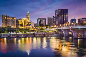 Hartford, Connecticut, USA Downtown Skyline on the Connecticut River. by SeanPavonePhoto