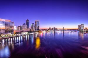 Jacksonville, Florida, USA City Skyline Panorama on St. Johns River at Dawn. by SeanPavonePhoto