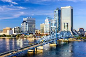 Jacksonville, Florida, USA Downtown City Skyline on St. Johns River. by SeanPavonePhoto