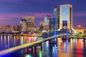 Jacksonville, Florida, USA Downtown City Skyline. by SeanPavonePhoto