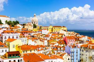 Lisbon, Portugal Town Skyline at the Alfama. by SeanPavonePhoto
