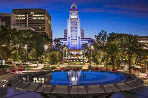 Los Angeles, California at City Hall. by SeanPavonePhoto