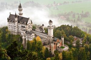 Neuschwanstein Castle Shrouded in Mist in the Bavarian Alps of Germany. by SeanPavonePhoto