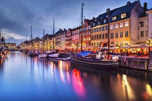 Nyhavn Canal in Copenhagen, Demark. by SeanPavonePhoto
