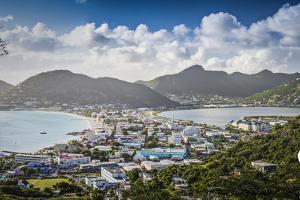 Philipsburg, Sint Maarten, Dutch Antilles Cityscape at the Great Salt Pond. by SeanPavonePhoto