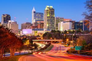 Raleigh, North Carolina, USA Downtown City Skyline. by SeanPavonePhoto