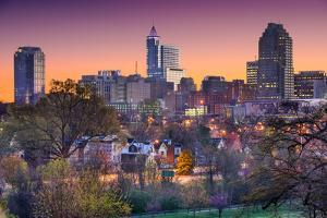 Raleigh, North Carolina, USA Skyline. by SeanPavonePhoto