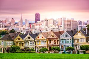 San Francisco, California Cityscape at Alamo Square. by SeanPavonePhoto