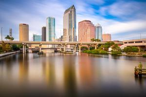 Tampa, Florida, USA Downtown City Skyline on the Hillsborough River. by SeanPavonePhoto