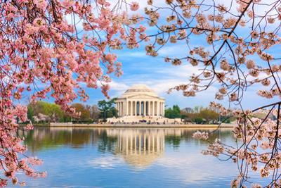Washington, DC at the Tidal Basin and Jefferson Memorial during Spring. by SeanPavonePhoto