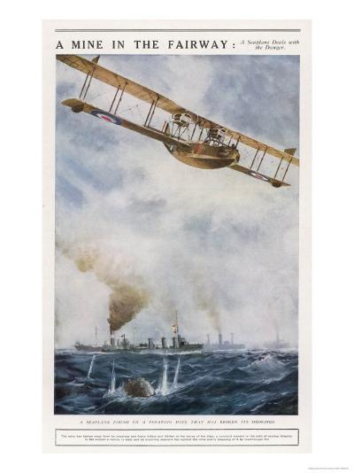 Seaplane Fires at a Breakaway Mine to Eliminate Its Threat to Nearby Ships--Giclee Print