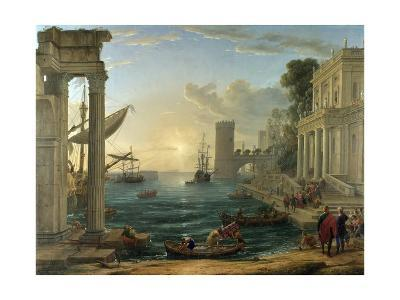 Seaport with the Embarkation of the Queen of Sheba-Claude Lorraine-Giclee Print