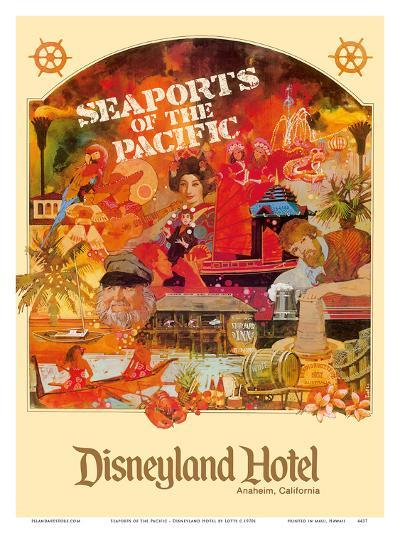 Seaports of the Pacific - Disneyland Hotel - Anaheim, California-Lotts-Art Print