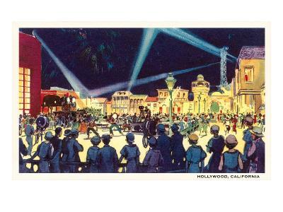 Searchlights on Movie Set, Hollywood, California--Art Print