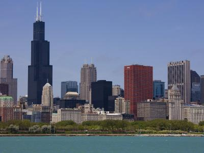 Sears Tower and Skyline, Chicago, Illinois, United States of America, North America-Amanda Hall-Photographic Print