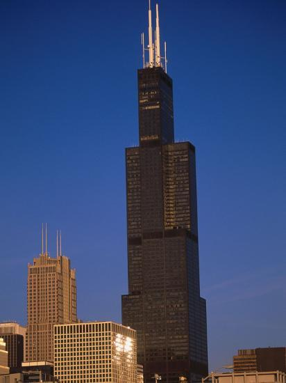 Sears Tower in the Afternoon-Bruce Leighty-Photographic Print