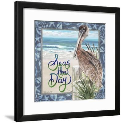 Seas the Day Pelican-Cindy Fornataro-Framed Giclee Print