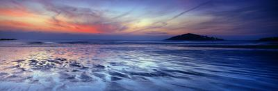 Seascape at Dusk, Bantham Beach, South Devon, Devon, England