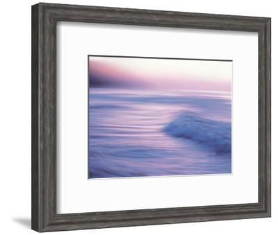 Seascape at Dusk--Framed Photographic Print