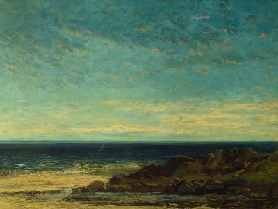 Seascape at Maguelonne-Gustave Courbet-Giclee Print