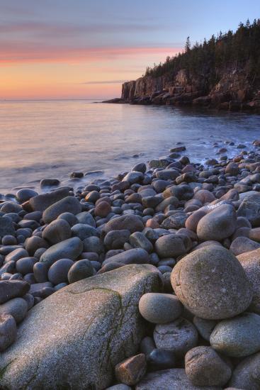 Seascape at Monument Cove, Acadia-Vincent James-Photographic Print