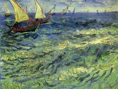 Seascape at Saintes-Maries, 1888-Vincent van Gogh-Giclee Print