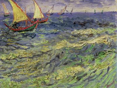 Seascape at Saintes-Maries, c.1888-Vincent van Gogh-Giclee Print