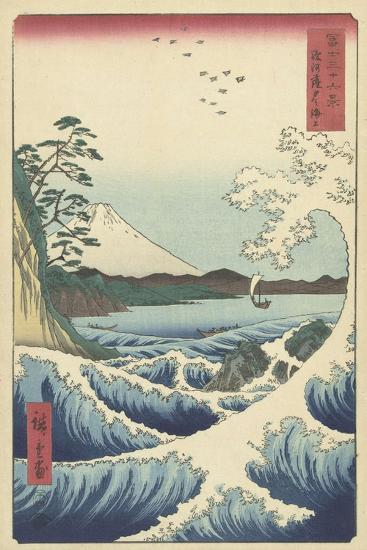 Seascape in Suruga, 1858-Ando or Utagawa Hiroshige-Giclee Print