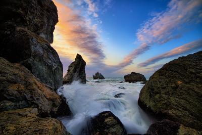 Seascape Movement, Humboldt Coast, California, Patrick's Point-Vincent James-Photographic Print