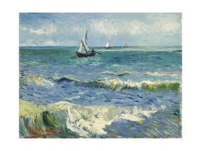 Seascape Near Les Saintes-Maries-De-La-Mer-Vincent van Gogh-Giclee Print