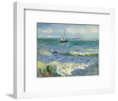 Seascape Near Les Saintes-Maries-De-La-Mer-Vincent van Gogh-Framed Giclee Print