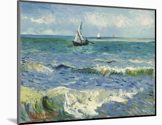 Seascape Near Les Saintes-Maries-De-La-Mer-Vincent van Gogh-Mounted Giclee Print