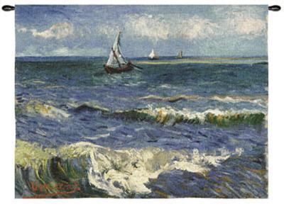 Seascape near Saintes-Maries-Vincent van Gogh-Wall Tapestry