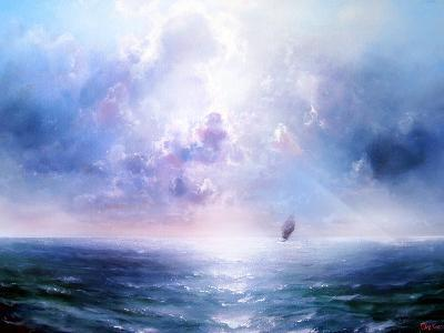 Seascape Open Sea- yakymenko-Art Print