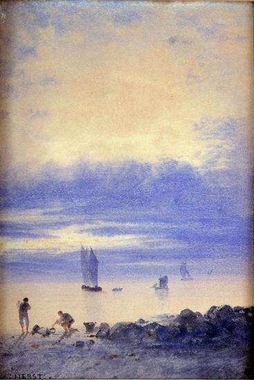 Seascape, Saint-Malo Beach-Auguste Herst-Giclee Print