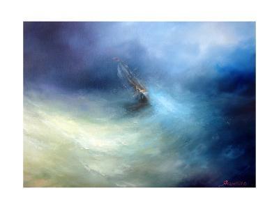 Seascape Storm In The Indian Ocean-yakimenko-Art Print